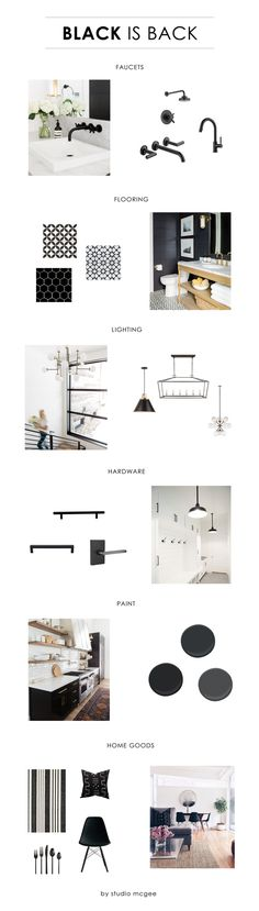 Black is Back. From paint, hardware to lighting and accessories, black is in! Check out these solutions to upgrade your look.