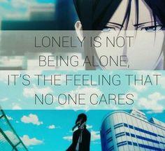 La solitude, ce n'est pas être seul, c'est le sentiment que personne ne se soucie de vous