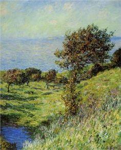 Cliffs of Varengeville, Gust of Wind - Claude Monet  1881