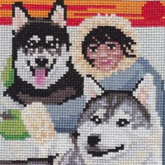 Friends From The North counted cross-stitch by 5PrickedFinger5