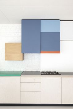Dries Otten Color-Blocked Kitchen | Remodelista