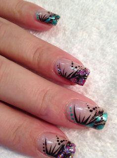 Fun nail art on shellac