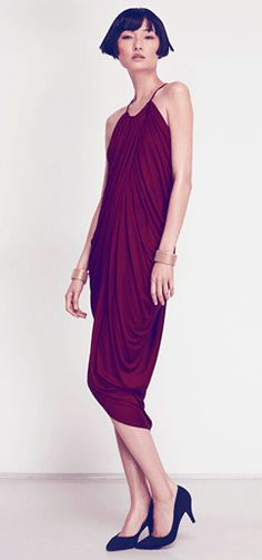 H & M burgundy dress