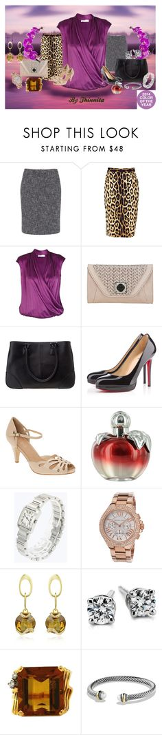 """""""Don't be so florid as an orchid"""" by thinnita on Polyvore featuring moda, Pantone, Paul Smith, Moschino Cheap & Chic, Lola, Elliott Lucca, Christian Louboutin, ALDO, Nina Ricci y Cartier"""