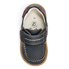Pediped Grip /'n/' Go Frank Hook /& Loop Leather Sneaker Size 19 US Toddler Size 4