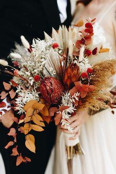 Boho Wedding Bouquet, Floral Wedding, Fall Wedding, Orange Wedding Flowers, Bridal Flowers, Dried Flower Bouquet, Dried Flowers, Flower Bouquets, Fall Bouquets