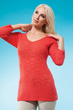 Heat up your look with this coral sweater! for Spring Spring 2014, Spring Summer, Coral Sweater, Knitwear Fashion, Style Clothes, Cold Shoulder Dress, High Neck Dress, Hot, Sweaters