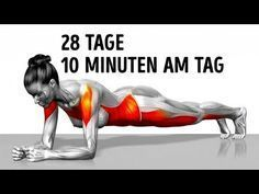 7 einfache Übungen, die dich in 4 Wochen in Form bringen - YouTube