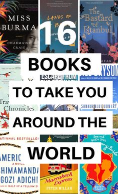 Looking for a great novel to feed your wanderlust? Here are 16 of the best wanderlust books and novels that will inspire you to explore or will take you around the world without leaving your room. Read around the world with my favorite list. Best Travel Books, Literary Travel, Travel Tips, Great Novels, Great Books, I Love Reading, Love Book, Reading Lists, Wanderlust Book