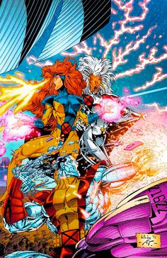 Jim Lee Era Gold Team Jean Grey and Storm