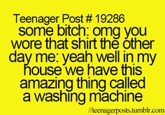 For my daughter- who has classmates that give her a rough time for having favorite shirts that show up frequently!  lol