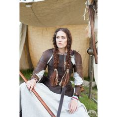 Discounted Price Medieval Women's Armor Shieldmaiden Viking Armor... ($747) ❤ liked on Polyvore featuring black and women's clothing