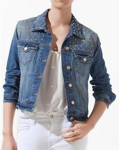 Denim Skirt, Denim Jeans, Linen Shirt Dress, Online Fashion Stores, Shirt Jacket, Blue Denim, My Style, Shirts, Outfits