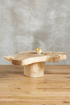 Live-Edge Coffee Table - Suar wood - anthropologie.com