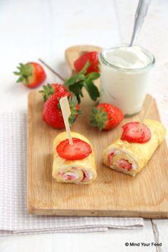 ontbijtwrap met aardbei