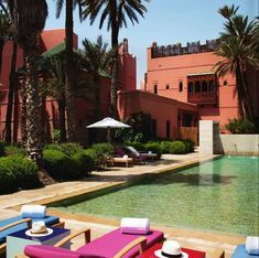 Sunbathing around the outside #pool of #RoyalMansour, a luxury Hotel & Spa in #Marrakech