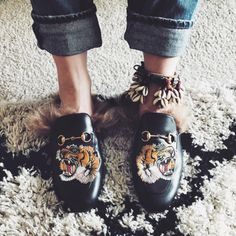 Gucci Princetown Lion loafers