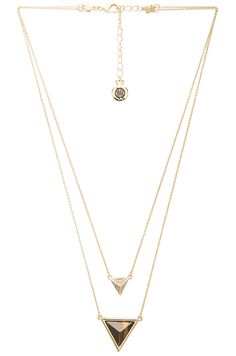 House of Harlow Temple Pendant Necklace in Gold