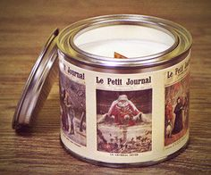 Shop for on Etsy, the place to express your creativity through the buying and selling of handmade and vintage goods. Soy Wax Candles, Candle Jars, Vintage Style, Vintage Fashion, Organic Candles, Tin, Designers, Canning, Decoration