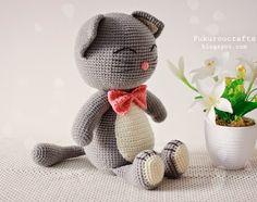 fukuroucrafts: Cute Crochet Pattern Cat Doll, Cute Amigurumi Pattern Cat Doll, แพทเทิร์น ตุ๊กตา ถัก โครเชต์ แมว