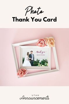 Snap a photo from your wedding day and use it as your Thank You Card. What's a greater way of reliving memories of your special day than through photos? Create one with us today! Simple Wedding Invitations, Custom Wedding Invitations, Invites, Photo Thank You Cards, Wedding Thank You Cards, Diy Wedding, Wedding Day, Wedding Announcements, Special Day