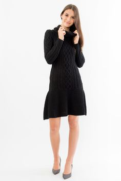 Cowl Neck Fit and Flare Dress Cowl Neck Sweater Dress, Suzy, Flare Dress, Fit And Flare, High Neck Dress, Womens Fashion, Fitness, Sweaters, Clothes
