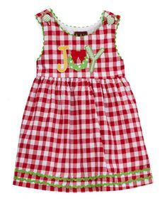 Another great find on #zulily! Red Gingham 'Joy' Jumper - Infant, Toddler & Girls #zulilyfinds