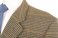 JOHN G HARDY SAVILE ROW BEIGE & GREEN HOUNDSTOOTH CHECK SPORTS JACKET 44R | eBay