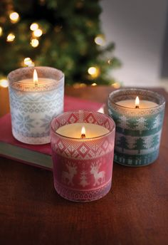 Świece świąteczne  / Christmas candles Wood Wick Sweaters In Home
