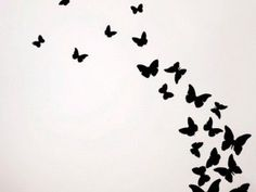 24 Best Solid Black Butterfly Tattoo images | Black ... - photo#20