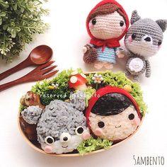 Little Red Riding Hood + The Big Bad Wolf bento