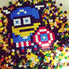 Captain America Minion hama beads by lauviahgyf