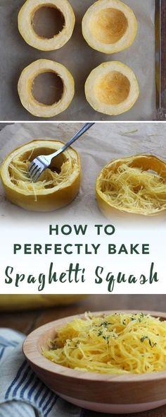 How to bake spaghetti squash   Empowered Sustenance
