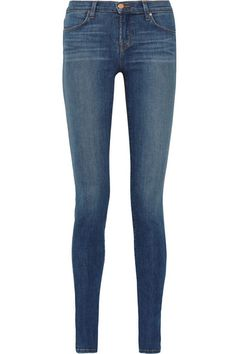 J Brand.  Stacked Skinny mid-rise jeans.