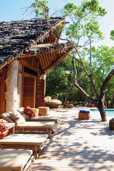Paradis sur terre / Heaven on earth Place/ Vamizi Island Lodge, Archipel des Quirimbas/ Quirimbas Archipelago, Mozambique Information/ The Style Junkies Archipelago, Spas, Porches, Romantic Beach Getaways, Romantic Getaway, Exterior, Outdoor Living, Outdoor Decor, Outdoor Furniture