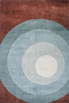 All shades of blue on your floor! Blue circles contemporary rug