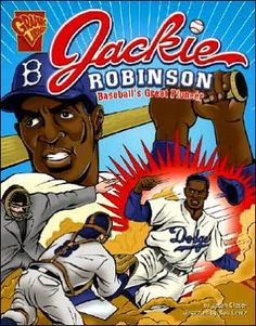 Jackie Robinson: Baseball's Great Pioneer (Graphic Biographies): A biography telling the personal life and baseball career of the legendary player, Jackie Robinson. Written in graphic-novel format. The Jackie Robinson Story, Freedom Riders, Books For Boys, Children Books, Book People, Teaching Social Studies, Memoirs, Black History, Audio Books