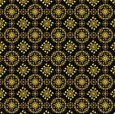 Cotton Quilt Fabric Kaleidoscope Medallions Olive Bohemian Print Floral
