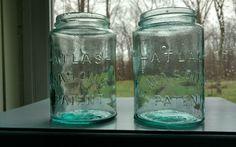 2 Early Atlas Mason's Patent Pint Jars | Collectibles, Bottles & Insulators, Bottles | eBay!