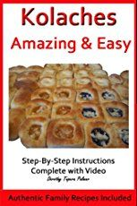Kolache recipes: How to make kolache dough and fillings. Food from Czechs living in Texas. Kolache recipes: How to make kolache dough and fillings. Food from Czechs living in Texas. Strudel, Croissants, Scones, Czech Recipes, Slovak Recipes, Austrian Recipes, Hungarian Recipes, Polish Recipes, Polish Desserts