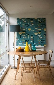 Ercol drop leaf table with stacking chairs