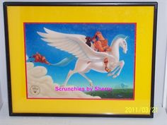 Disney Store Hercules Lithograph Framed Gold Seal