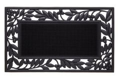 Olives Vine border Cast Iron Vulcanized Rubber Outdoor Mat 18x30 by Iron Gate - Classic styling and Ultra-Strong construction - Heavy duty rubber with the look of iron - Welcome your guests with this high quality doormat by Iron Gate, http://www.amazon.com/dp/B006OJJ27I/ref=cm_sw_r_pi_dp_nHCasb0B2Z3G2