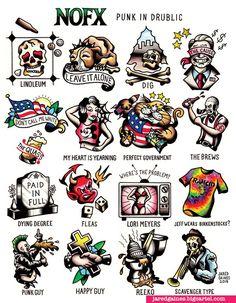 https://jaredgaines.bigcartel.com/product/nofx-punk-in-drublic-print  #nofx #rancid #greenday #tattooflash #tattoos #badreligion