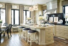 <3  Notice all the long drawers instead of cabinet doors?  So smart!  designer Joy Tribout