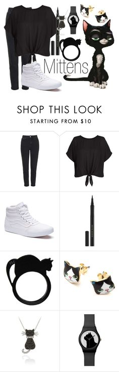 """Mittens~ DisneyBound"" by basic-disney ❤ liked on Polyvore featuring Topshop, Vans, Kevyn Aucoin and DB Designs"
