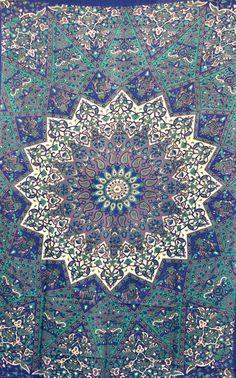Hppie Hippy de Tenture murale, tapisserie de Chakra de Mandala indien, couverture de lit, lit écartées, art pariétal, drap fait main, couverture de