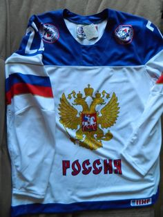 6f74aa391 Scotchgard 3m Hockey ochsner jersey Russia player 22 size Xl IIHF #fashion # clothing #shoes #accessories #mensclothing #othermensclothing (ebay link)
