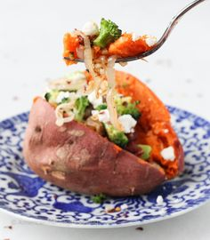 Vegetarian Stuffed Sweet Potato