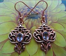 Copper Celtic Knot Earrings #CTE593
